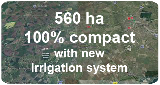 560 ha with new irrigation system